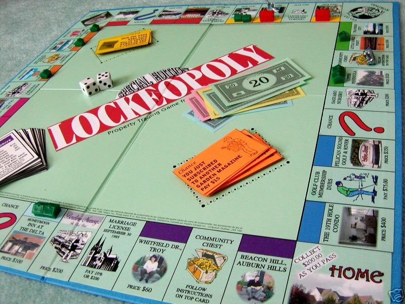 Monopoly Board Game. custom Monopoly board game